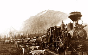 Logging Train near Tanner Landing